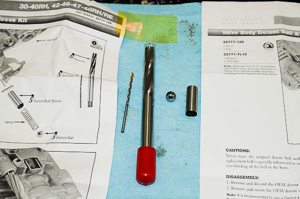 Sonnax reamer kit for custom detent sleeve