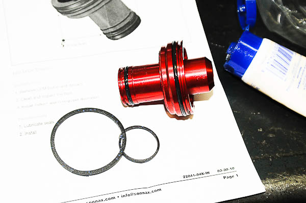 Sonnax accumulator piston and seals