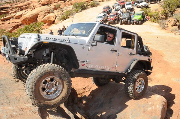 Latest Jeep 4WD Wrangler JK model in traditiona Jeep angle!