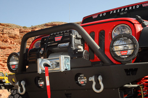 Warn Industries JK Wrangler winch and bumper package