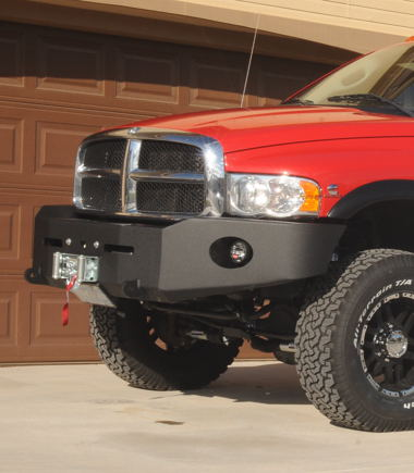 Warn heavy-duty front bumper with M12000 winch