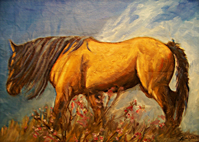 Fine Art Paintings of Wild Horses by Lisabelle