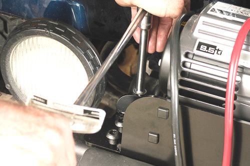 Always use a torque wrench, Loctite and correct fasteners.