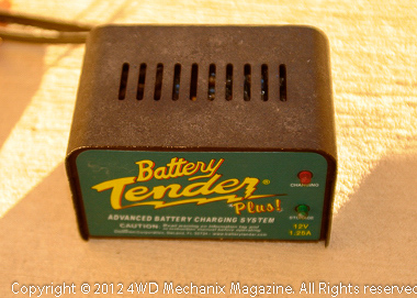 Battery Tender for a single battery