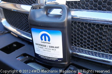 Mopar anti-freeze meets your Jeep or Ram truck needs!