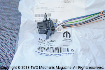 Replacement wiring and plug from Mopar