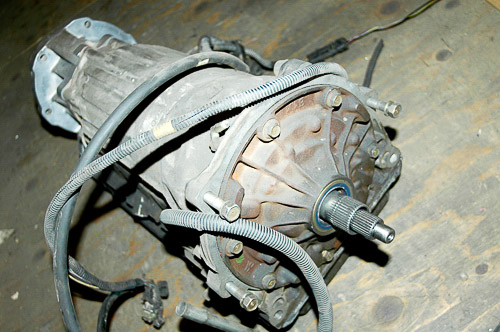 Aisin-Warner AW-4 automatic transmission in Jeep XJ Cherokee.