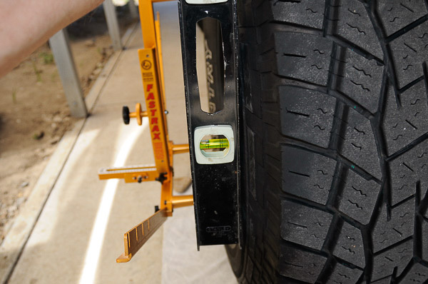 Alignment on a beam axle Jeep 4WD.