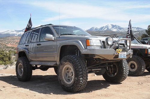 ZJ Jeep Grand Cherokee V-8 model equipped for off-road use