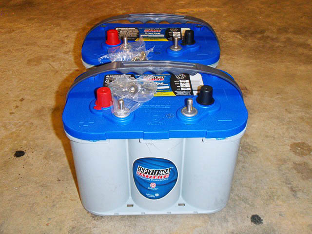 Optima 'Blue' batteries for welding supply.