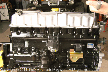 1991-up 4.0L block or stroker core with earlier YJ Wrangler style oil filter.