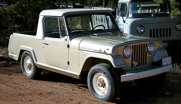 Stone stock Jeepster with half-cab!