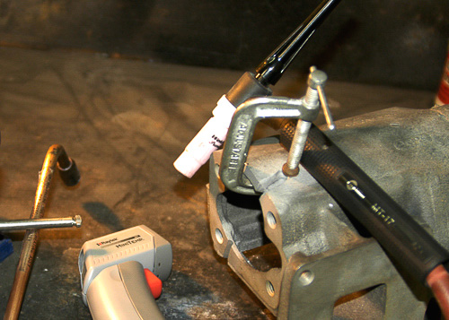 TIG welds with 750 filler rod.