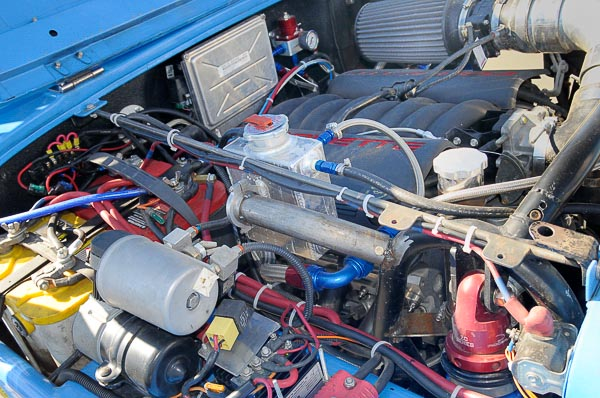 High Performance Corvette LS engine in '82 CJ-7 chassis.