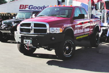 Dodge Ram 3500 on display with BFG at the 2011 Off-Road Expo