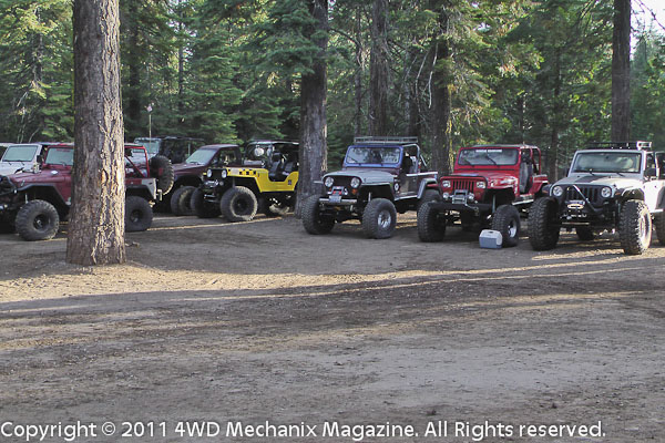 Group of 4x4s at the WFTW Rubicon Super Event