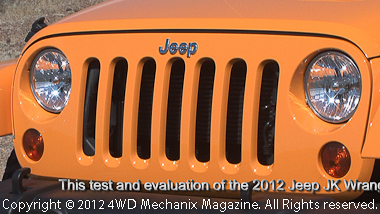 Dozer Yellow is the color of the 2012 Jeep Wrangler Unlimited Rubicon 4x4 test vehicle!