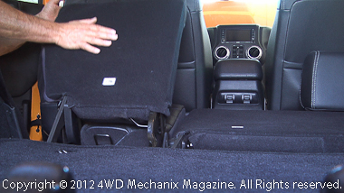 Fold-down rear seats are ample and provide comfort and leg room!