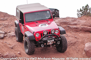 Bestop Jeep JK Wrangler on trail run at Moab