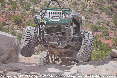 Action at Area BFE at 2012 Moab Jeep Safari