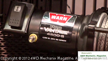 Warn OHV winch power to 4500 pounds!