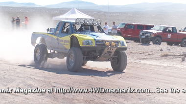 Toyota race truck competing in VORRA 500 Race at Nevada!