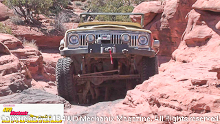 Vintage Jeep J-truck 4x4 pickup on 2013 Warn Moab Media Run