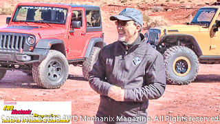 Pietro Gorlier, head of Mopar Division, presents at the 2013 Moab Jeep Safari.