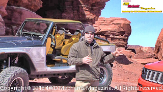 Mark Allen with the Jeep/Mopar concept vehicles at Moab 2013