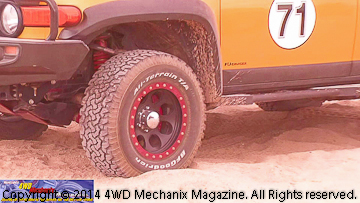 Specially prepped vehicles at the TDS Desert Safari 4x4 activities