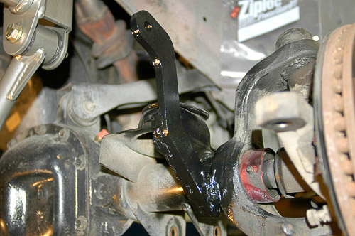 Finished installation of long sway bar link brackets.