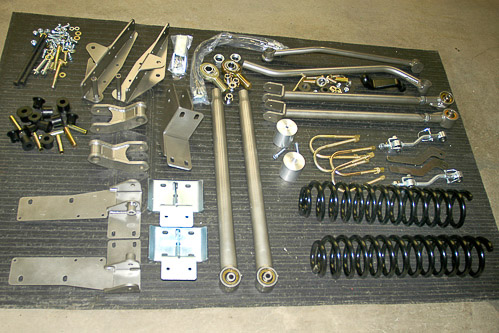 Full-Traction Suspension 6-inch long arm suspension lift kit for the Jeep XJ Cherokee.