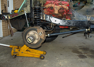 Retrofit link arm suspension for vintage CJ-6 chassis