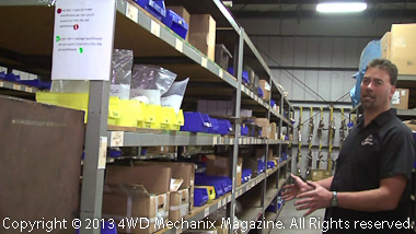 Steve Roberts shares shelves of parts at Advance Adapters.