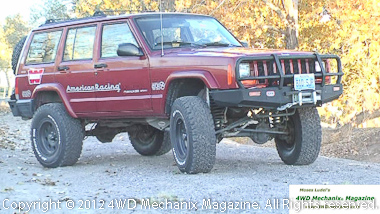 BFG All-Terrain tires are attractive and fit the XJ Cherokee 4x4 properly!