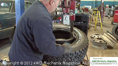 Use care when mounting tires on alloy aluminum rims!