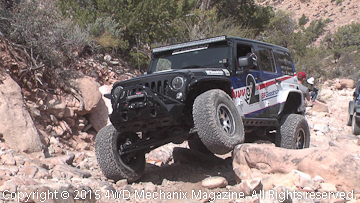 BFGoodrich® Jeep JK Wrangler leads the guests at Area BFE/