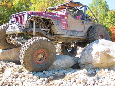 Ben Shelswell's rock crawling Wrangler TJ! Photo courtesy of Ben Shelswell.