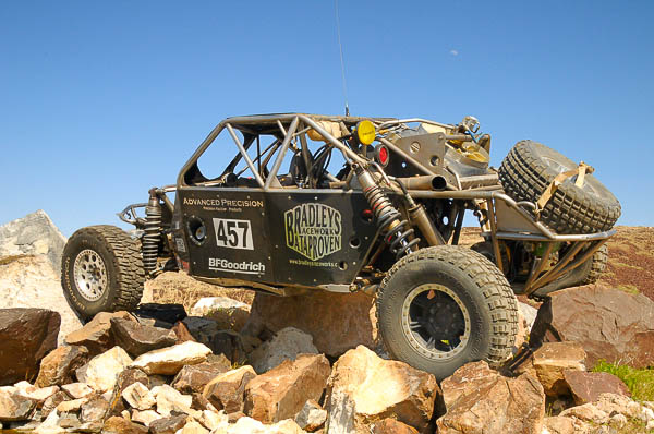 The #457 desert race car and VORRA Championship winner
