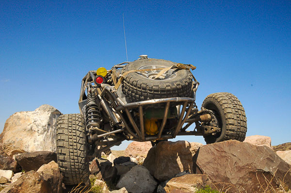 Brad Falin's #457 Ultra 4 race car on the rocks!