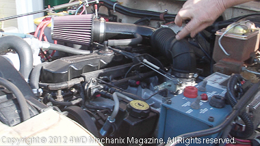 Stroker 4.6L in Jeep CJ engine bay