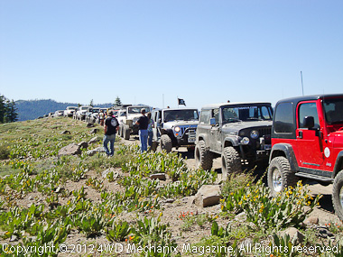 First wave transportation from the Diablo 4-Wheelers, Hills Angels, Reno 4x4 and other clubs. Photo courtesy of Diablo 4-Wheelers.