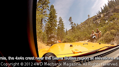 GoPro view through the windshield of a new Jeep JK Wrangler Rubicon Unlimited.