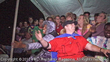 Jenny and staff sing to the Camp Wamp Kids after the dance.