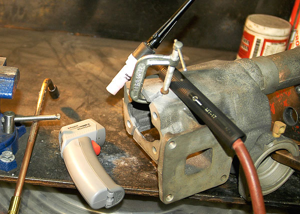 TIG welding repair of cast iron.