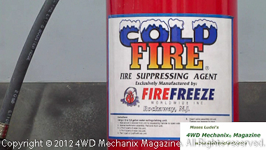 Cold Fire environmentally friendly fire suppression equipment