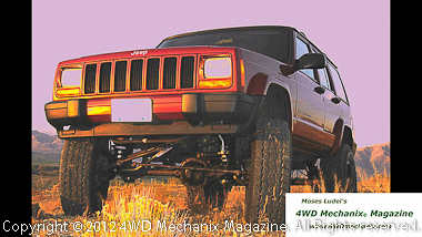1999 XJ Cherokee after 6-inch long arm lift installation