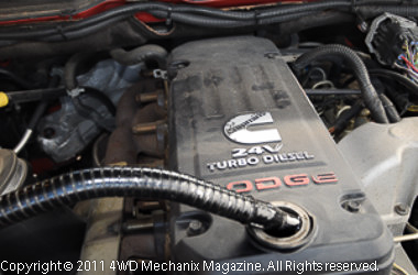5.9L Cummins ISB engine in the 2005 Dodge Ram 3500 4WD pickup