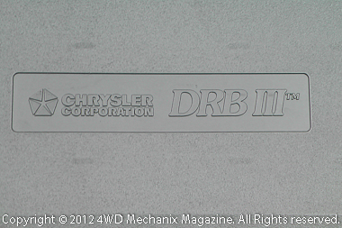 Chrysler's DRBIII Scan Tool from OBD-II era