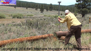 Friends of Nevada Wilderness work hard at the Dog Valley Project